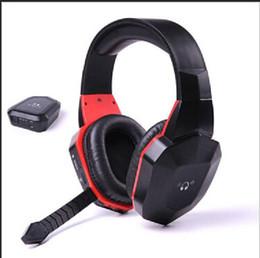 Promotion casque stéréo xbox Gros-Marques 2.4G sans fil numériques écouteurs stéréo de fibre de jeu pour PS4, PS3, Xbox 360 ONE, Wii, PC / MAC, Jeux TV casque amovible Mic