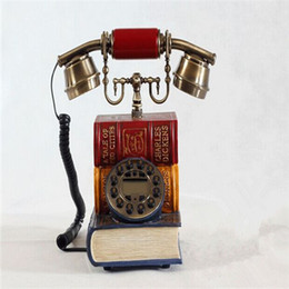 Wholesale classical retro corded telephone personality antique household book Dictionary retro telephone home phone antique phone