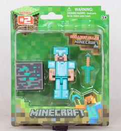 Wholesale EMS Minecraft Action Figures inch cm styles Action Figures Decoration toys Hot Sale stone bed christmas Gift