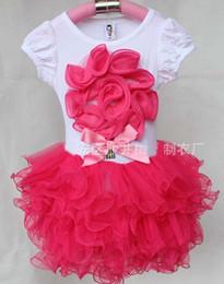 Flower Dresses Pettiskirt Children Clothes Kids Clothing 2016 Princess Dresses Girl Dress Kids Tutu Dresses Ruffle Tulle Dress C9817