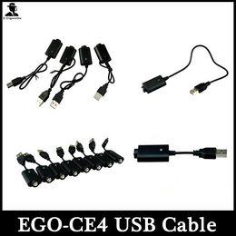 EGO USB Charger Cable For Ecig CE4 CE6 Electronic Cigarette USB Ego-T Ego-C Ego-W Ego-CE4 CE6 E Cigarette Ecig Kits
