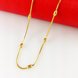 Fast Free Shipping Thick Wholesale Men's 18k yellow gold filled necklace width: 3mm, Length: 45cm, weight:. 5g Men's GF Jewelry
