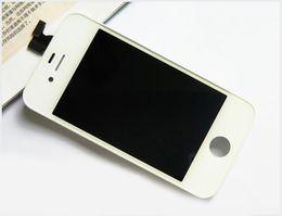 Exhibición del LCD para el iPhone 4 4G / CDMA / 4S con la calidad del AAA de la asamblea del sistema del marco de la pantalla táctil con el acoplamiento del polvo libera la nave de Fedex DHL desde iphone 4s conjunto completo proveedores