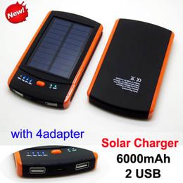 Бесплатная доставка Портативный Солнечное зарядное устройство 6000mAh панели солнечной батареи двойной зарядки порта питания банк для iPhone 6 плюс Ipad Samsung S4 S5 S6 от Поставщики солнечная панель бесплатная доставка