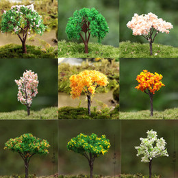 Wholesale artificial trees doll house sand model miniatures fairy garden terrarium bottle garden mini plants home table decor P