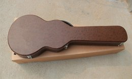 Wholesale Brand New High Quality Brown Artificial Leather Guitar Hard Shell Case for LP Custom Standard Electric Guitar