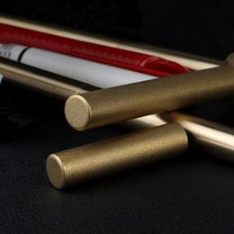 Gros-EDC Retro main pur laiton Stylos Japan Style Rechargeable Gel Pen # Scrub à partir de gommage main fournisseurs