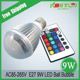 AC85-265V 9W RGB llevó el bulbo llevado del múltiplo de la iluminación 16 de múltiples funciones Proyector de KTV de las lámparas del partido de la familia con teledirigido desde focos de colores proveedores
