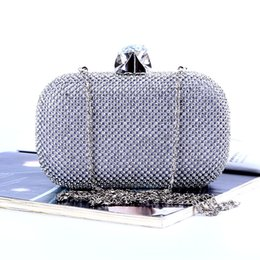Factory Retaill Wholesale brand new handmade attractive diamond evening bag clutch with satin for wedding banquet party porm(more colors)