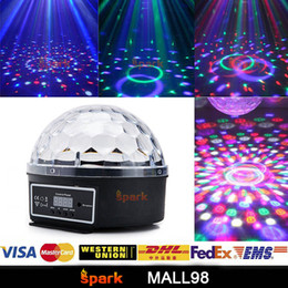 New colorful RGB digital LED crystal magic ball projector party DMX512 voice control mode DJ stage laser effect light