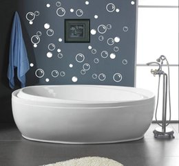 Wholesale waterproof bathroom tile stickers Soap Bubbles bathroom decor wall quote art vinyl decal sticker