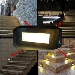 Wholesale Outdoor Indoor led stair light W V led wall lamp night light led Step light recessed floor light Cool warm white waterproof