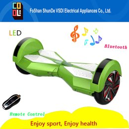 Wholesale Multifunction with LED bluetooth self balancing scooter Smart skateboard hoverboard suitable for both adult and teenagers