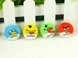 Wholesale 2 CM creative stationery birds rubber green bird expression mini eraser students angry bird eraser gift