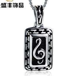 Notes pendant necklace Swiss stainless steel necklace seiko quality Never change color freeMen pendant