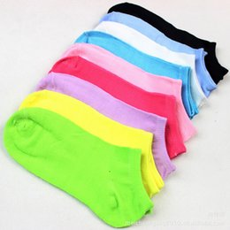 Wholesale 100PCS Pairs Candy Color Women Lady Girl Socks Short Ankle Boat Low Cut Sport Cotton Socks Crew Casual New Colors Calcetines Mujer