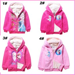 Wholesale 2014 New Arrival Frozen Olaf anna elsa princess Baby Children Girls Boys Winter Outerwear Coat Hooded Lamb Long Sleeve Kids Snowsuit Outwear