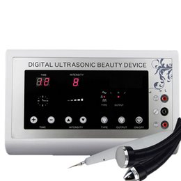 Wholesale 2015 in1 MHz Ultrasonic Ultrasound skin Spot remover Mole Tattoo Removal Body Therapy Face spa device Massage instrument Beauty Machine