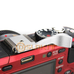 Wholesale Silver Thumb Up Grip for Panasonic Lumix GH3 GX1 GF2 G10 LF199B Fujifilm X100 X10 X pro Olumpus OM D EM PEN E P3 E P2