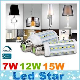 Dimmable 7W 12W 15W conduit ampoules E27 E26 E14 B22 SMD 5730 conduit des lumières de maïs 360 angle AC 110-240V + CE UL CSA cheap e27 smd ce à partir de e27 ce smd fournisseurs
