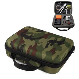 Wholesale 2016 New Promotion Hard Case Middle Collection Box Camouflage Carry Travel Storage Bag Case for Gopro Hero Camera