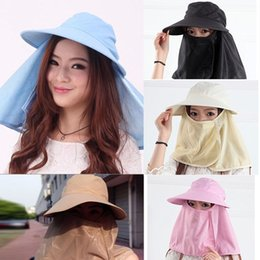 Wholesale-S640 New 2015 Women Sun Hats Fashion Cover Face Hats For Women Ladies Casual Hat Girls Sun Summer Hat 5 Colors
