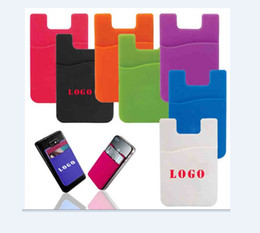 OEM Printed customized logo and color silicone pocket pal Universal Sticky Phone Wallet case 3m sticker smart wallet card holder for iphone