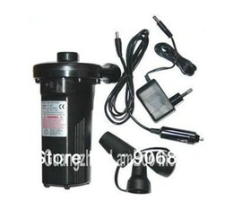 Wholesale HOT V V DC12V Electric Rechargeable Air Pump Battery Air Blower for Inflatable Boats Swimming Rings Bed Sofa Pool etc