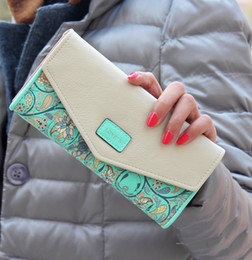 Wholesale Fashion Floral Women Wallets Colors new long styles wallet bags Popular Portable Change Cash Purses Delicate Casual Lady Standard Wallets