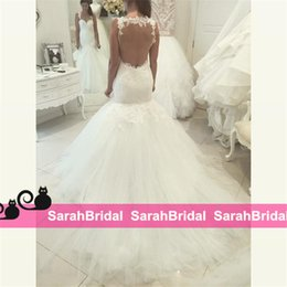 2019 Sexy Berta Mermaid Wedding Dresses with Lace Spaghetti Strap and Illusion Back for Spring Beach Bridal Gowns Sale Cheap Brides Wear New