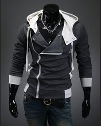 Wholesale-Hot Sale Men 2016 Assassins Creed Hoodie Brand Design Zipper Sweatshirt Men Tracksuit Size M-6XL