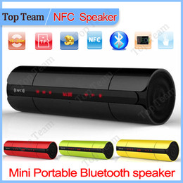Wholesale NFC FM HIFI bluetooth speaker wireless stereo portable loudspeakers blue tooth boombox super bass caixa de som sound box system