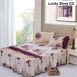 Wholesale home textile bed skirt set bedspread bedclothes bed cover fitted sheet mattress covers cushion cover bedclothes Queen full