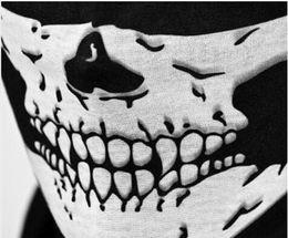 Wholesale-2015 new Skull Design Multi Function Bandana Ski Sport Motorcycle Biker Scarf Face Mask CS Skull Masks 1 PCs