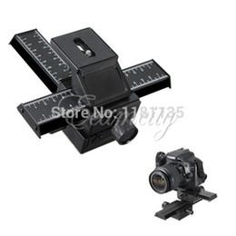 Descuento dslr deslizador Envío gratuito de 4 vías Macro Enfoque Enfoque carril deslizante 1/4 Tornillo F DSLR cámara para Canon para Nikon