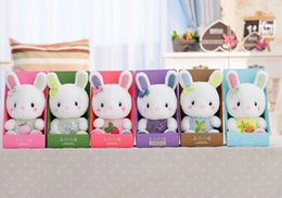 Wholesale Super Cute Bunny - 1PCS 20CM HOT HOT HOT Super Quality Genuine Plush Toy Plush Rabbits Lavender Bunny Stuffed Animals Cute Gifts For Girls And Kids