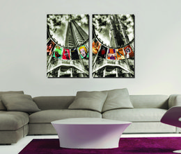 2 Pieces Free shipping Home decoration Paint on Canvas Prints train metroMonroe Star White House goddess Jesus Times Square bus Telephone