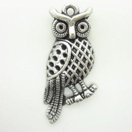 Charms Antique Plated Silver Zinc Alloy Owl habitat Fit Pendant Bracelet Necklace DIY Jewelry 60pcs