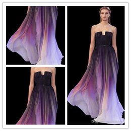Wholesale 2015 New Tarik Ediz Evening Gowns In Stock Cocktail Homecoming Prom Party dresses Chiffon Cheap with gradient ramp evening dresses A0017