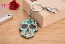 2016 New Skull head Silicon Key Caps Covers Keys Keychain Case Shell Novelty Item Key Accessories Car Keychain Ring