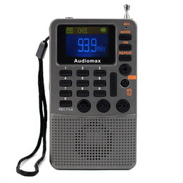 Wholesale Handheld FM Stereo Radio Receiver TF Card MP3 Player REC Recorder With BL C Battery Y4114
