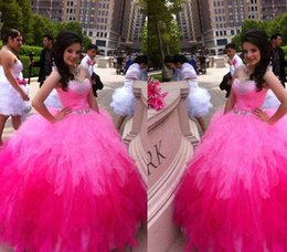 Pink Quinceanera Dresses 2016 Beaded Sweet 16 Floor-Length Formal Ball Gowns Prom Dresses Quinceanera Gowns Custom made