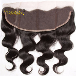 Nadula 13x4 Lace Frontal Body Wave Hair Peruvian Non Remy Hair Weaves 100% Human Hair Extensions Closure 10-20INCH Fast Free Shipping