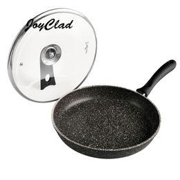 Wholesale Mármol sartén calor aislado manija piedra libre de PFOA aleación revestido antiadherente para freír utensilios de cocina de cocina sartén
