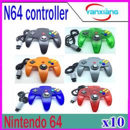 Nuevo color 5 de mango largo Pad Controller Joystick sistema de juego de Nintendo 64 N64 sin embalaje al por menor 10 PC ZY-PS-05 desde pc shock del sistema proveedores