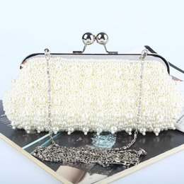 Factory Retaill Wholesale brand new handmade attractive beaded evening bag clutch with satin for wedding banquet party porm