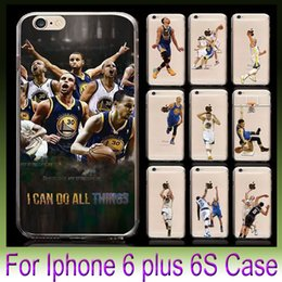 Wholesale USA American football Basketball Player Design Cases Soft TPU Clear Cover For iPhone S s Plus Cellphone Cases Coloured Drawing Skin