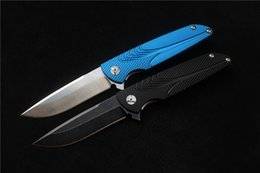 Wholesale Brian Nadeau Tactical Survival Typhoon Flipper Bearing Knife D2 Blade Sky Blue Black Alu Sheet Handle