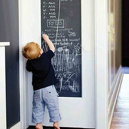 Wholesale 45x200cm Chalk Board Blackboard Stickers Removable Vinyl Draw Decor Mural Decals Art Chalkboard Wall Sticker For Kids Rooms D003