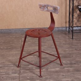 Wholesale Jane Gang New Continental Iron Bar Stool do the old retro bar stools bar stools Home creative leisure